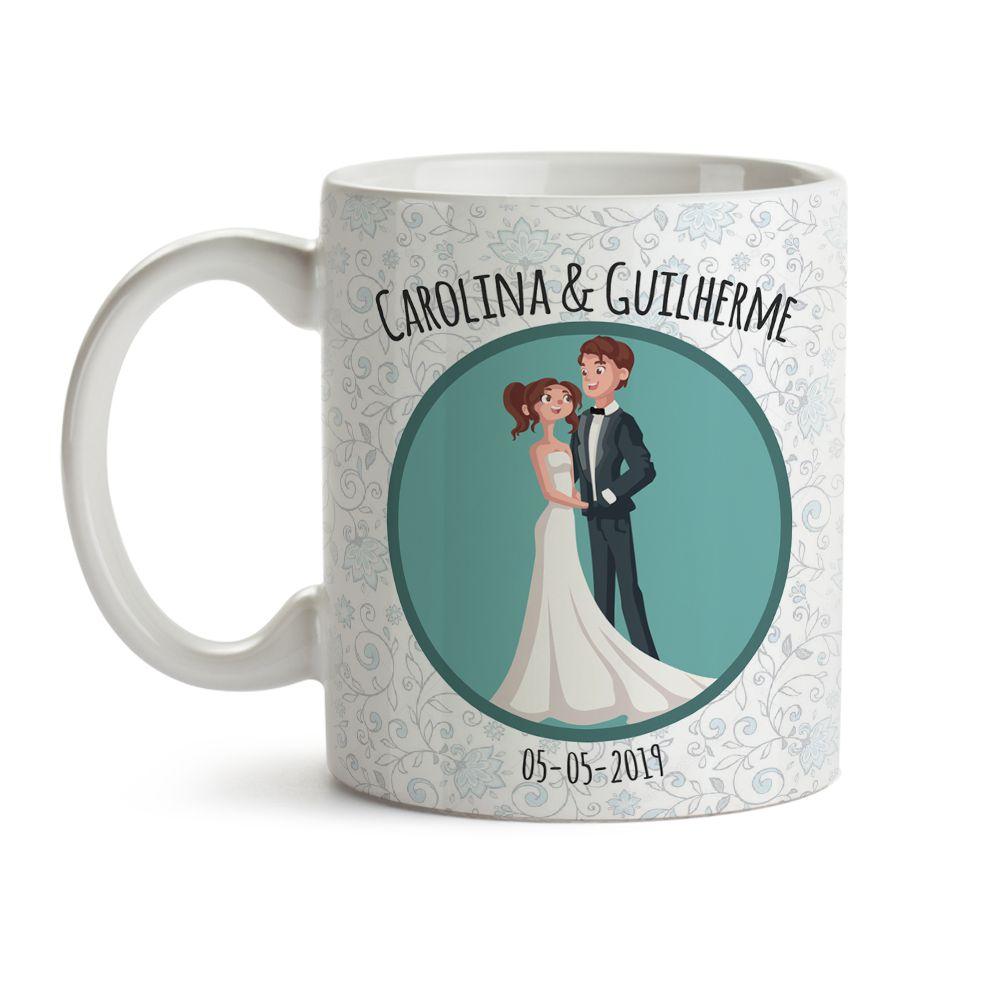 Caneca Casamento Desenho 03