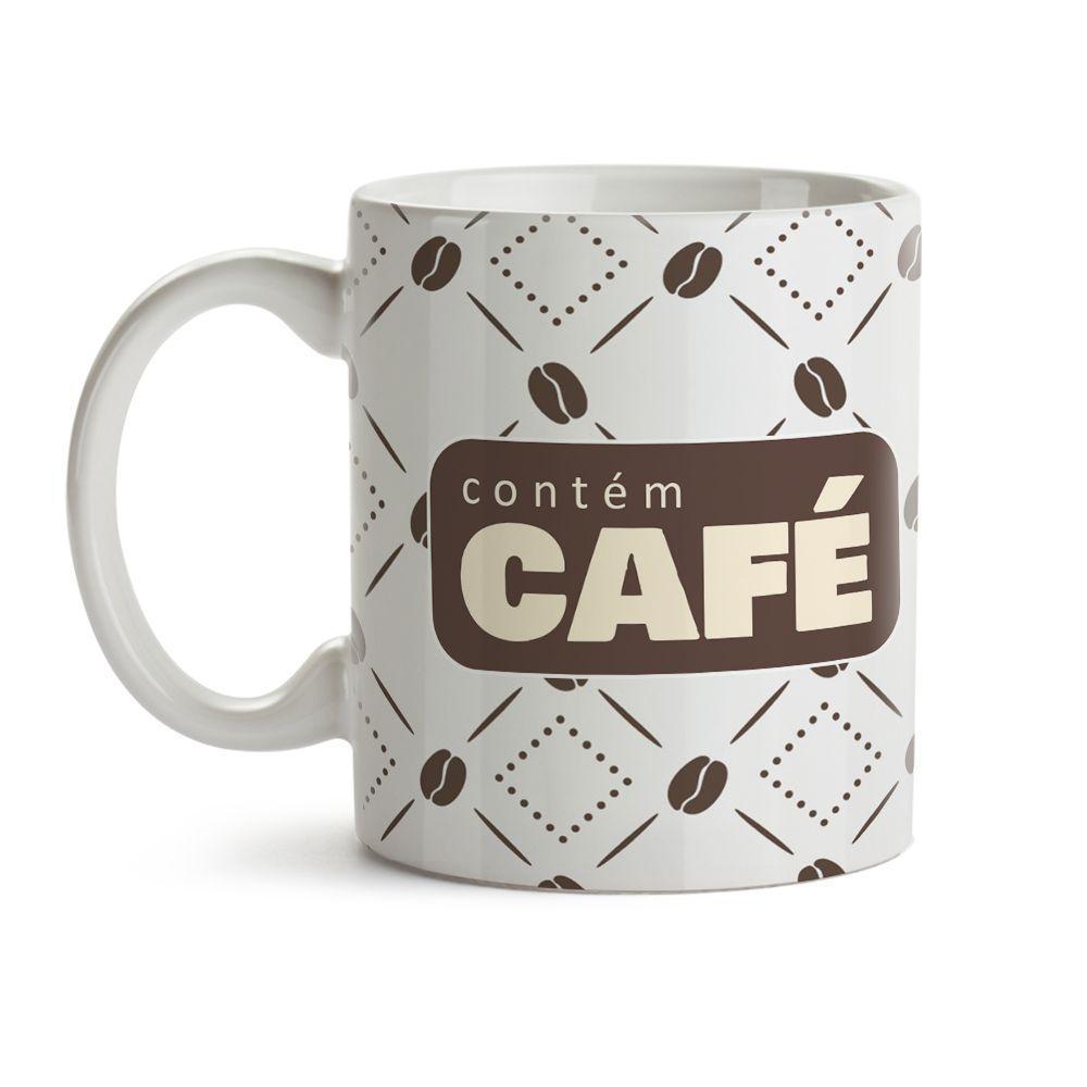 Caneca Contém Café Grãos