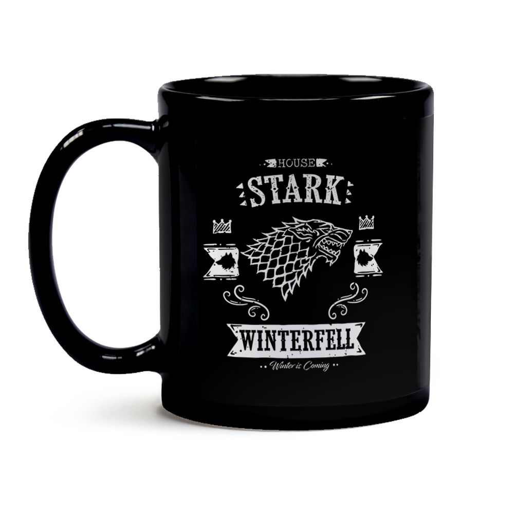 Caneca Game Of Thrones Casa Stark Black