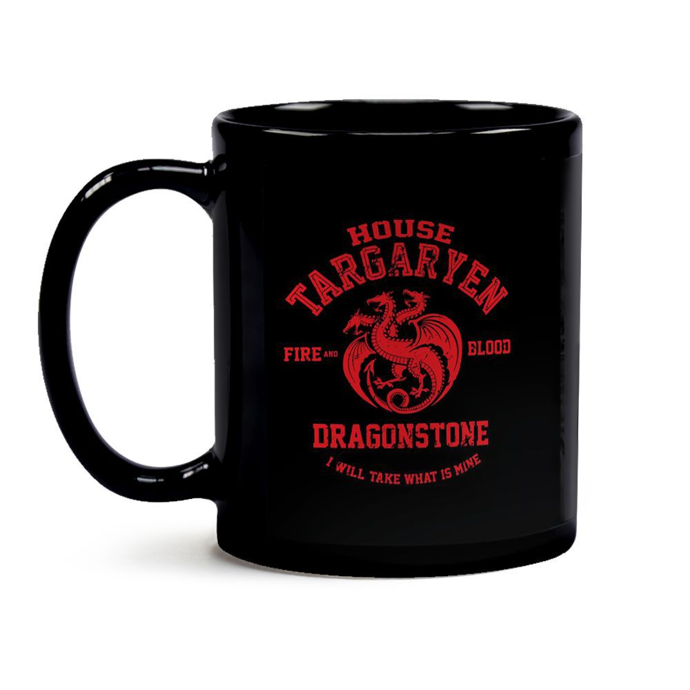 Caneca Game Of Thrones Casa Targaryen Black