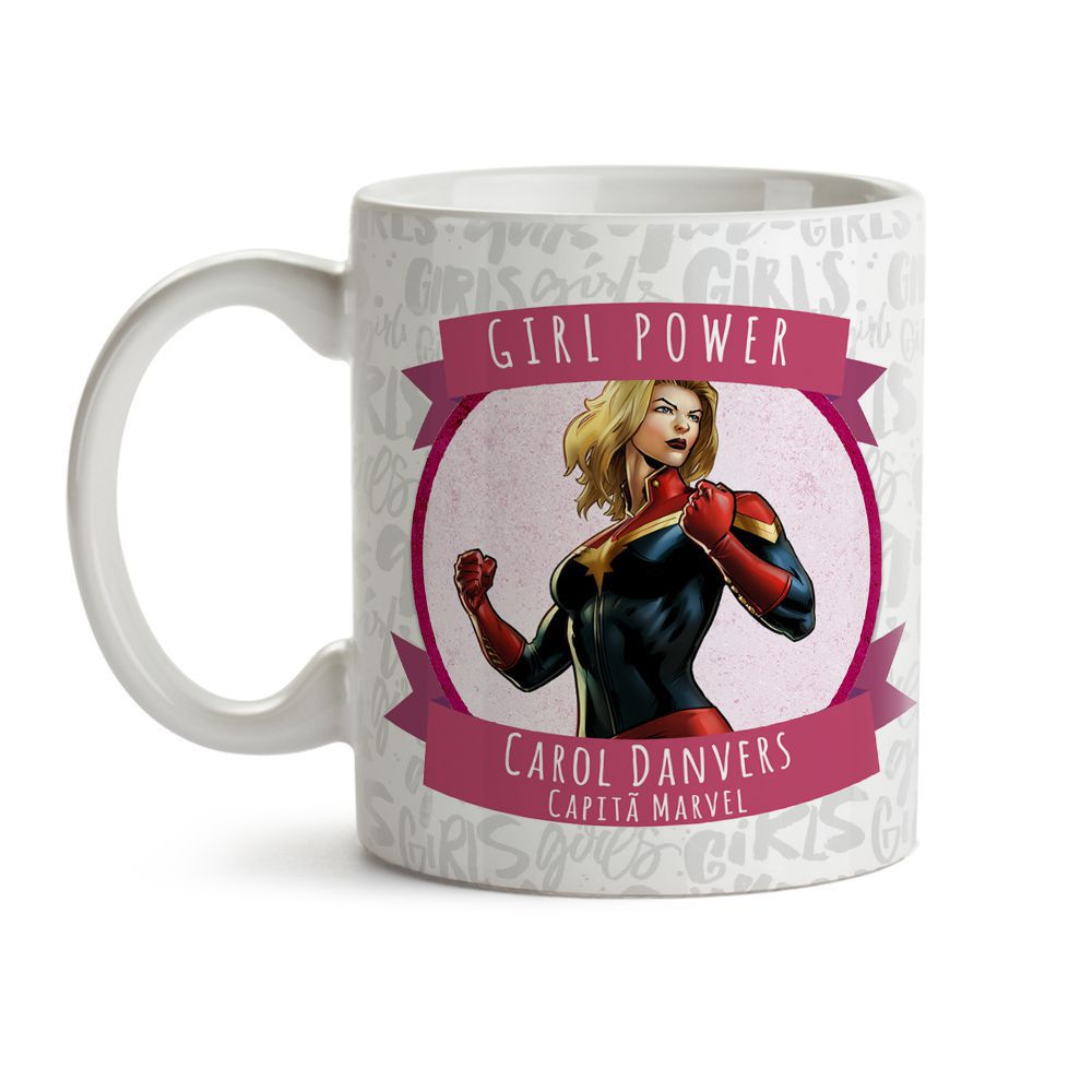 Caneca Girl Power Capitã Marvel