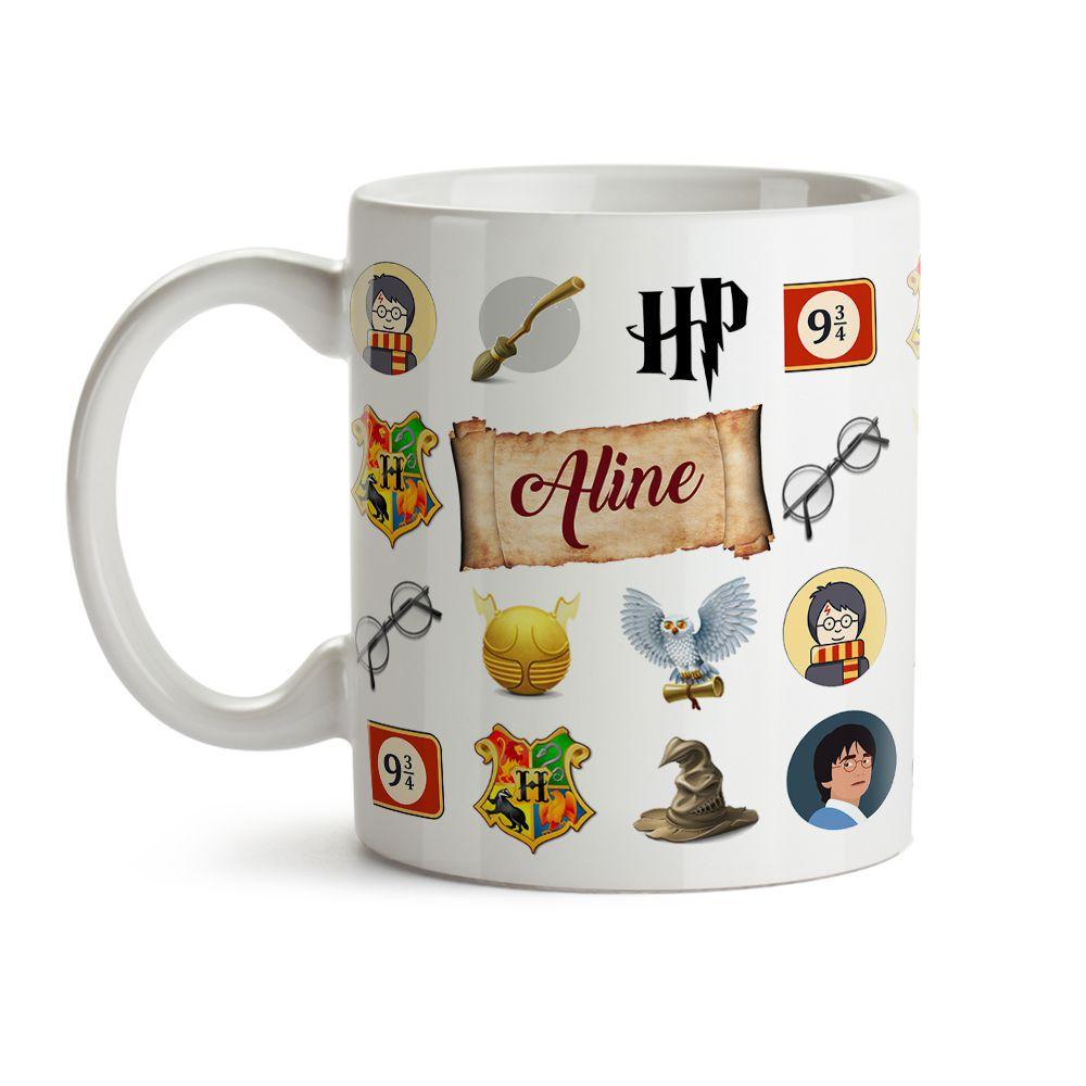 Caneca Harry Potter Icones