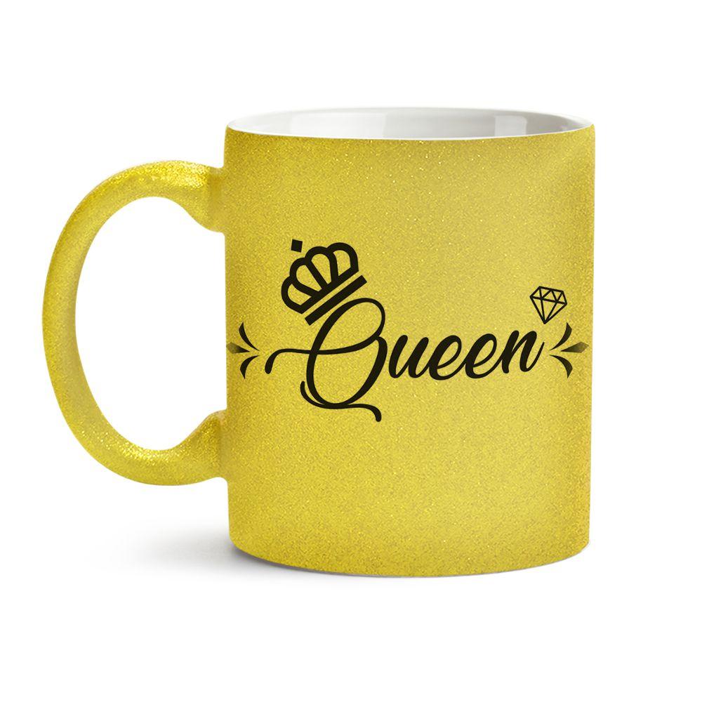 Caneca Queen Dourada 01