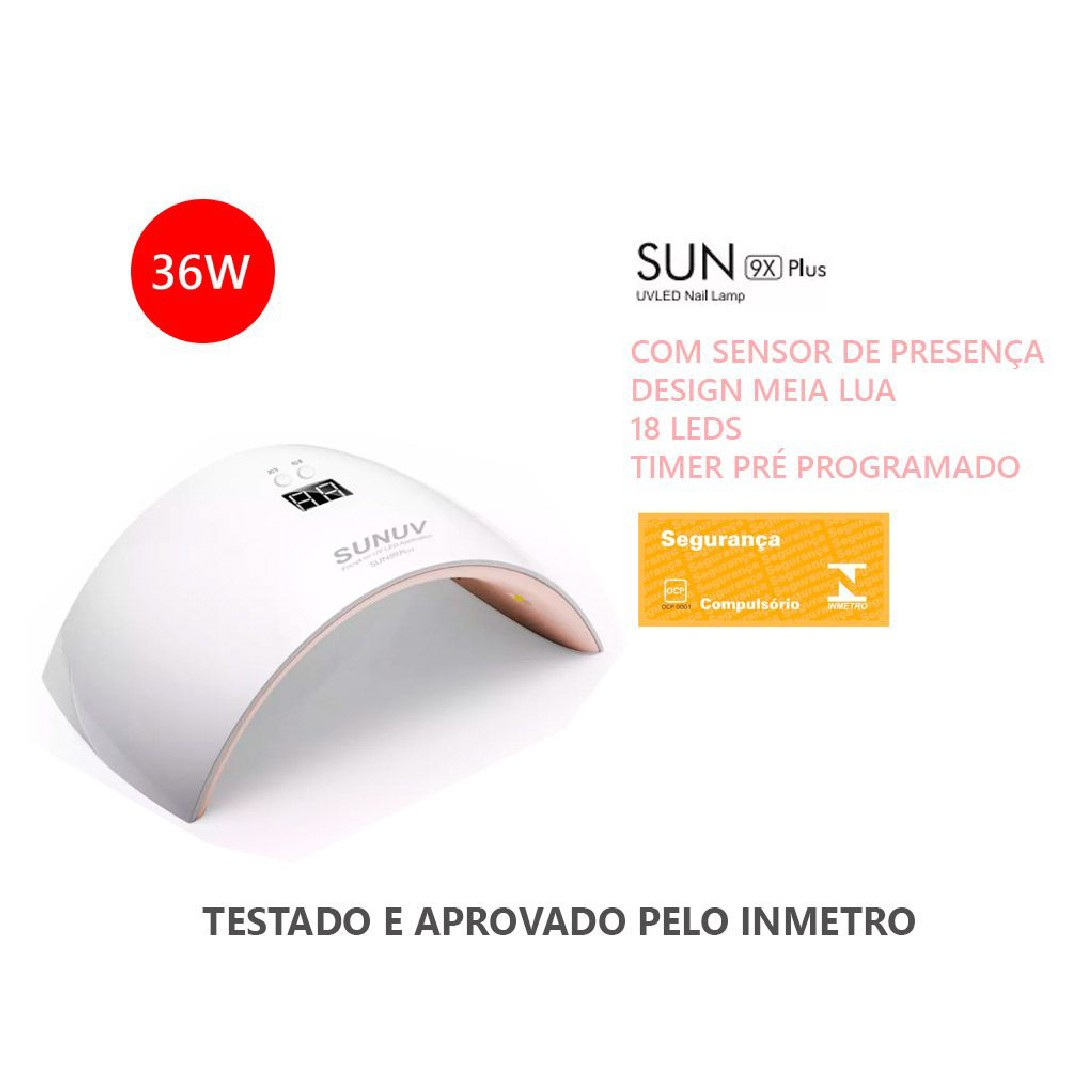 Cabine secador de unhas SunUV 9x Plus