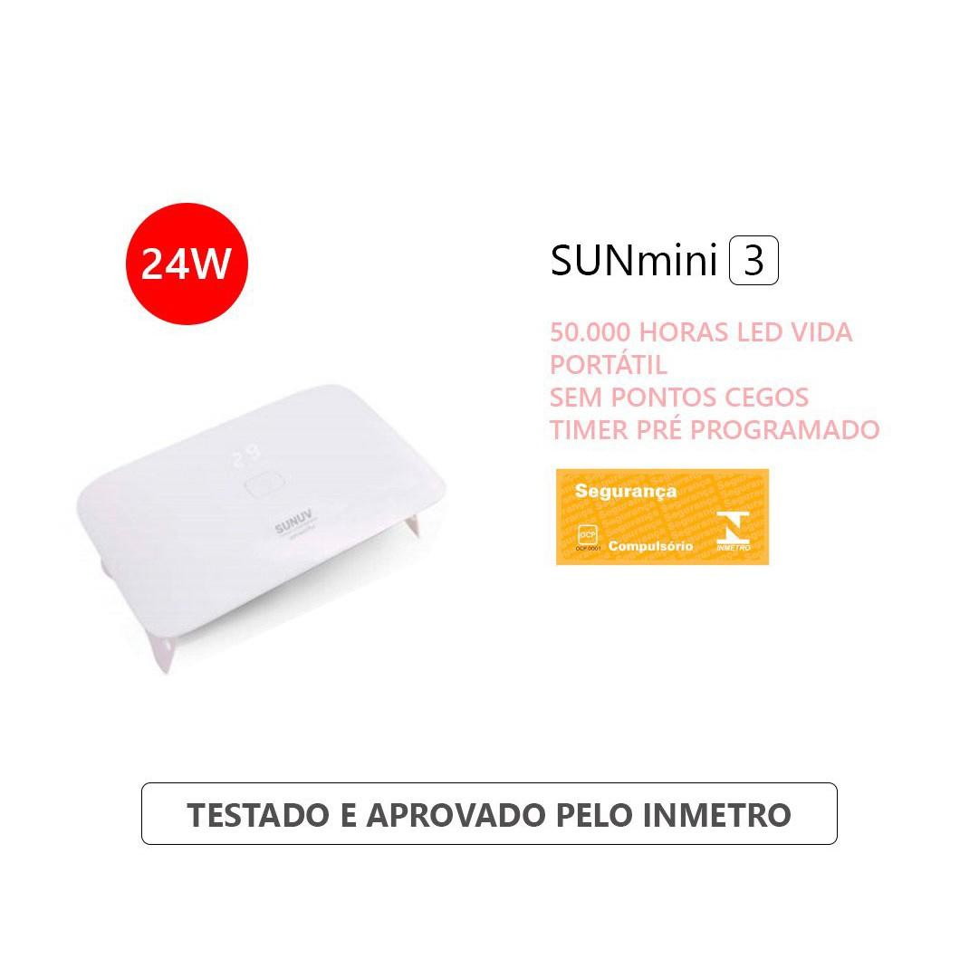 Cabine Uv Led Sun Mini 3 Plus 24W Sunuv