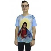Camiseta Religiosa Masculina Cristo Azul - Frui Vita REF: CF-016
