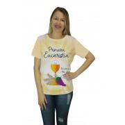 Camiseta Religiosa Feminina Primeira Eucaristia Bege - Frui Vita REF: CF-137
