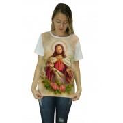 Camiseta Religiosa Feminina Jesus Branco - Frui Vita