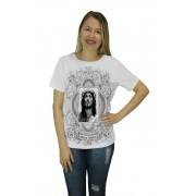 Camiseta Religiosa Feminina Jesus Cristo Branco - Frui Vita