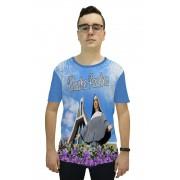 Camiseta Religiosa Masculina Santa Paulina Azul - Frui VIta REF: CF-110