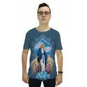 Camiseta Religiosa Masculina Nossa Senhora das Graças Azul - Frui Vita REF: CF-068