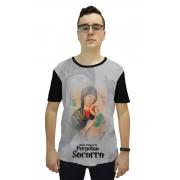 Camiseta Religiosa Masculina Nossa Senhora do Perpétuo Socorro Preto - Frui Vita REF: CF-073