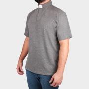 Camisa Para Padre Polo Clerical Manga Curta- REF.: 220--