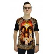 Camiseta Religiosa Masculina Sagrada Família Preto - Frui VIta REF: CF-056
