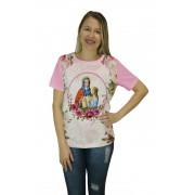 Camiseta Religiosa Feminina Santa Ana Rosa - Frui Vita REF: CF-25