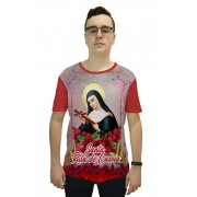 Camiseta Religiosa Masculina Santa Rita de Cassia Vermelha - Frui VIta REF: CF-063