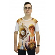 Camiseta Religiosa Masculina São Tarcísio Branco - Frui VIta REF: CF-064