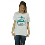 Camiseta Religiosa Feminina Tudo Posso Naquele que me Fortalece Branco - Frui Vita REF: CF-088