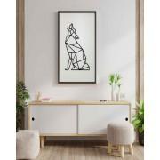 Quadro Cachorro Geométrico Uivando - Frui Vita REF.: QF-CGU