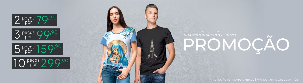 2 Camisetas Fiéis R$ 79.90