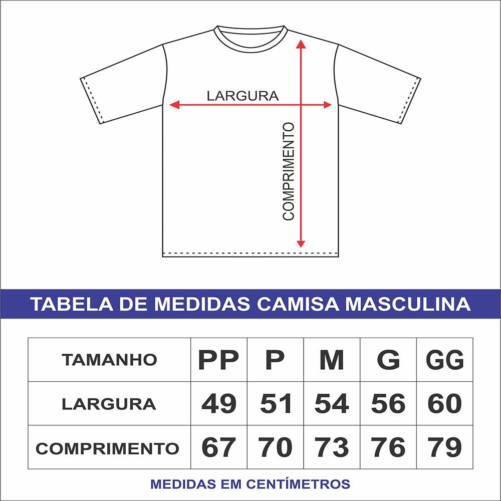 Camiseta Religiosa Masculina Medalha de São Bento Prata Preto - Frui Vita REF: F-020