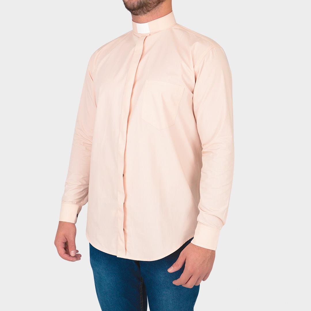 Camisa Para Padre Slim Fit Manga Curta Tecido Algodão - REF.: 230
