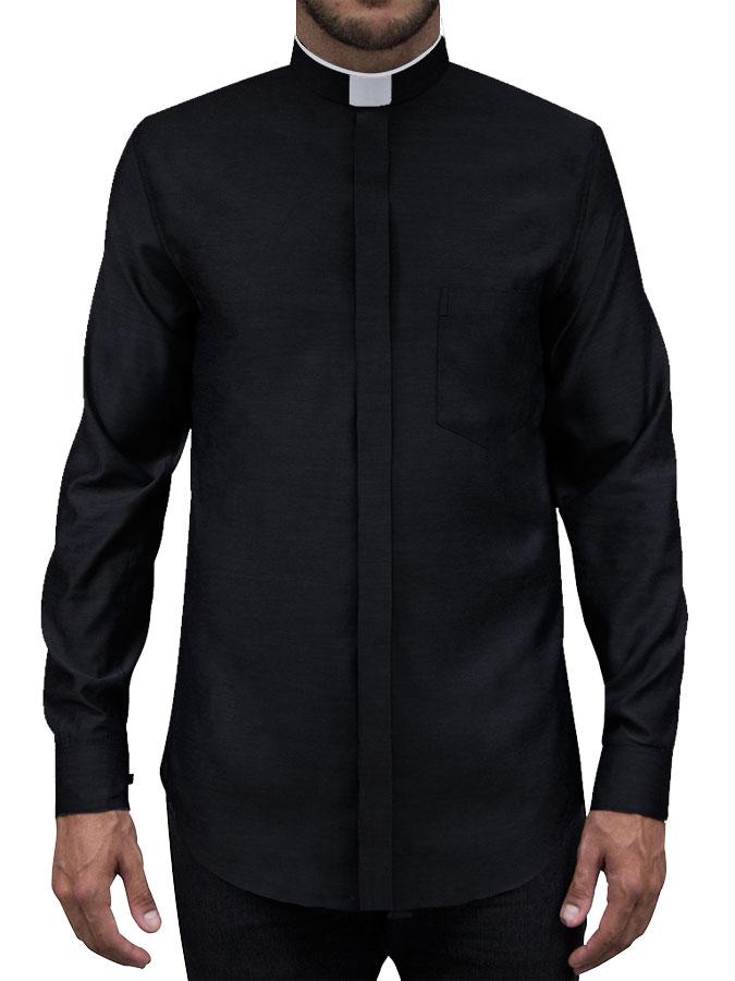 Camisa Para Padre Slim Fit Romana Manga Longa Passa Fácil - REF.: 213