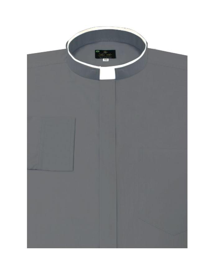 Camisa Para Padre Romana Manga Longa Tecido Algodão REF.: 206