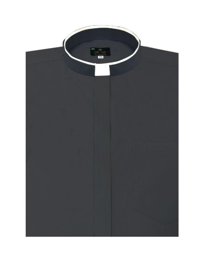 Camisa Para Padre Slim Fit Romana Manga Curta Passa Fácil - REF.: 233