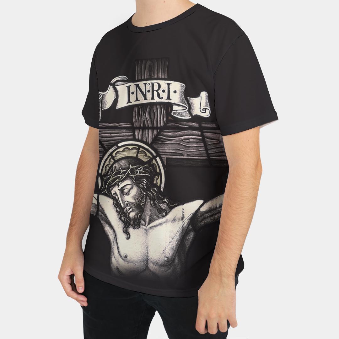 Camiseta Masculina Religiosa Jesus Cristo Preto - FruiVita