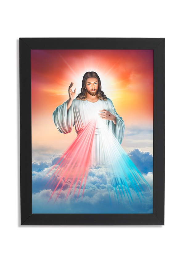 Quadro decorativo com moldura Jesus
