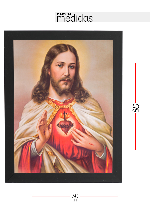 Quadro Decorativo com moldura Jesus Cristo