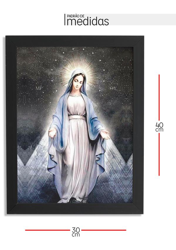 Quadro Decorativo com moldura Nossa Senhora das Graças