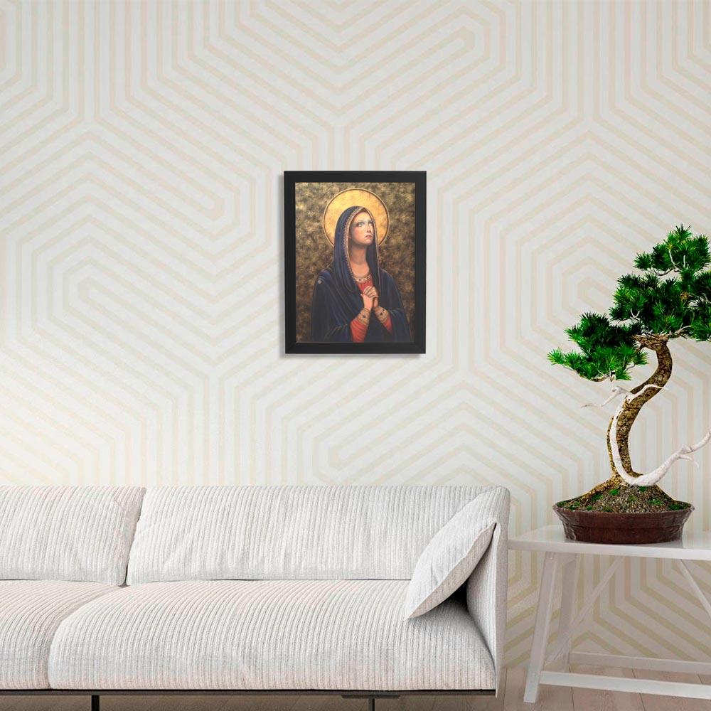 Quadro Decorativo com Moldura Virgem Maria