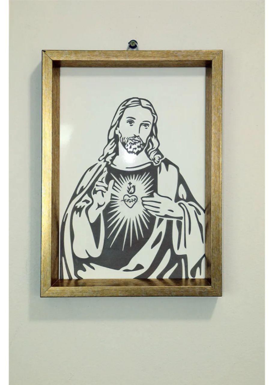 Quadro Sagrado Coração de Jesus - Frui Vita REF.: QF-SCJ