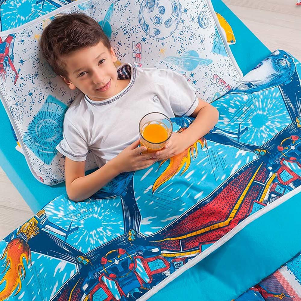 Kit Cobre Leito Infantil Casal Estampado Vivaldi Space