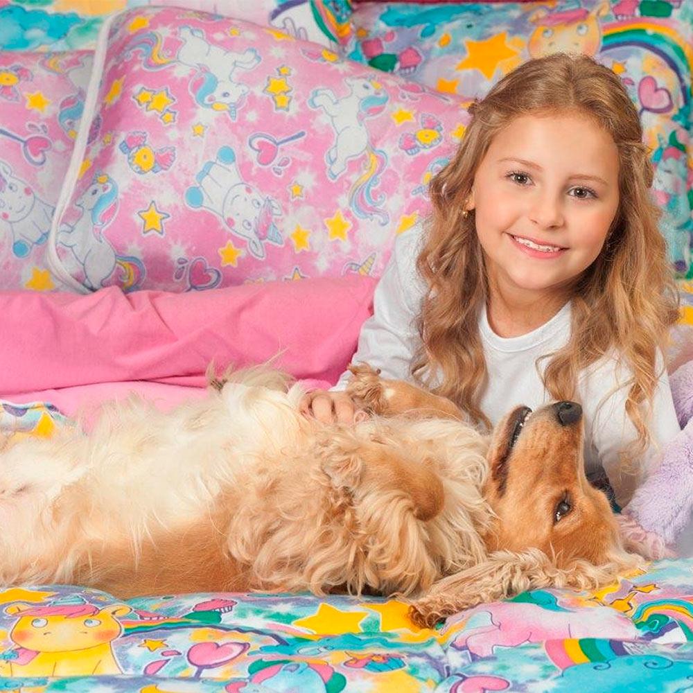 Edredom Casal Kids Estampado Vivaldi Unicornios Ref 66.61.0003/3261