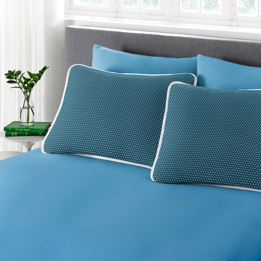 Jogo 3 Peças King Size Estampado Premium Ciranda Azul Ref  70.73.0003/7126