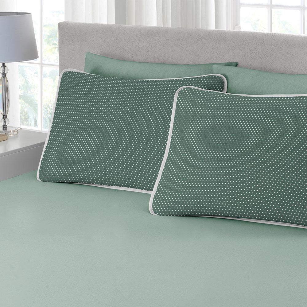 Jogo 3 Peças King Size Estampado Premium Ciranda Verde Ref  70.73.0003/7125