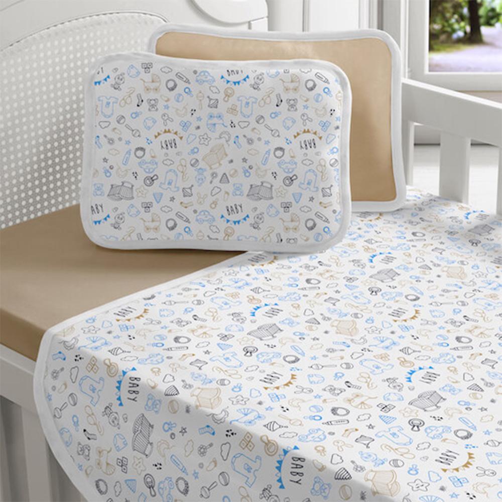 Jogo de Cama Bebê 3 Peças Vivaldi Baby Azul Ref 66.90.0013/3493