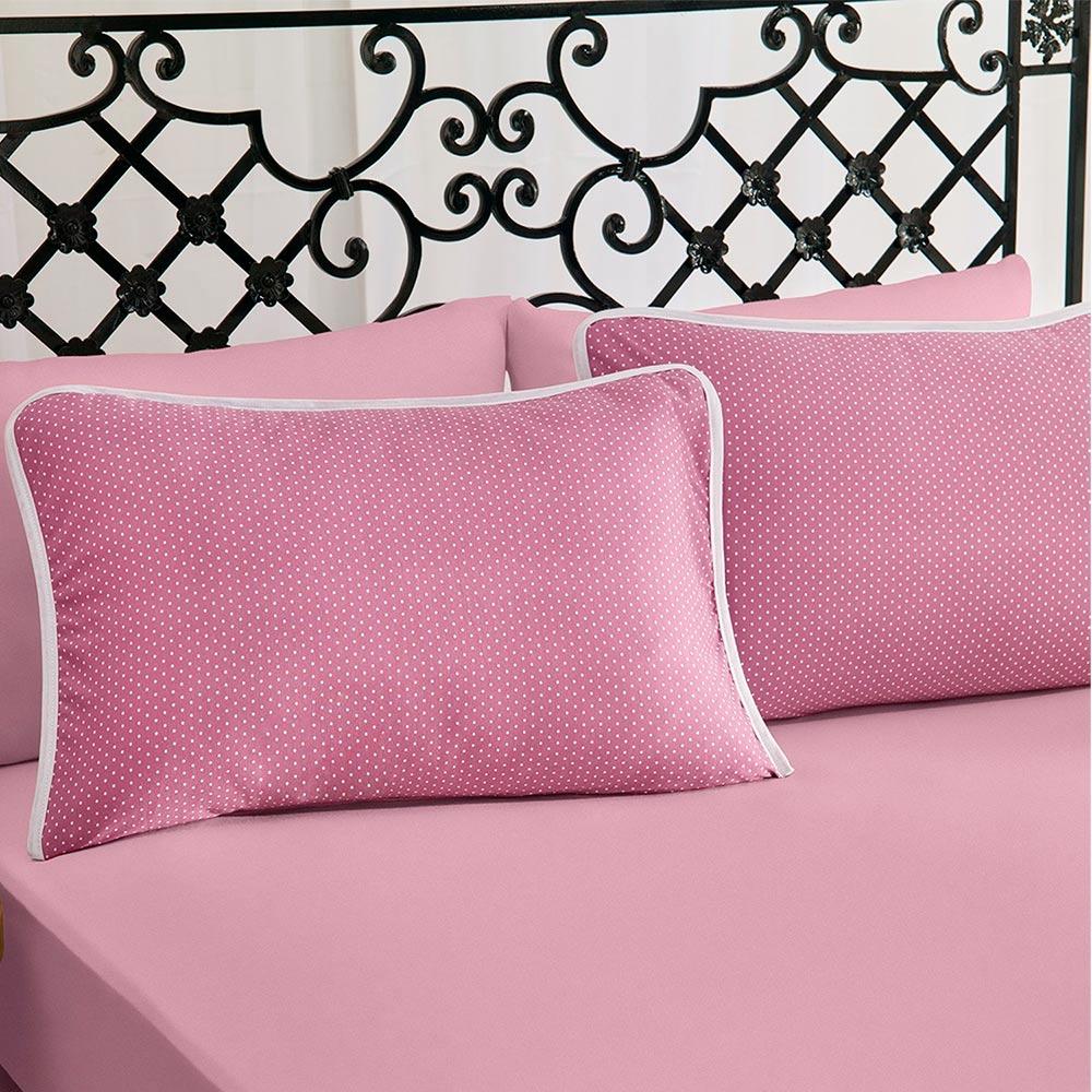 Jogo de Cama King Size 3 peças Premium Ciranda Rose Ref 70.73.0003/7145