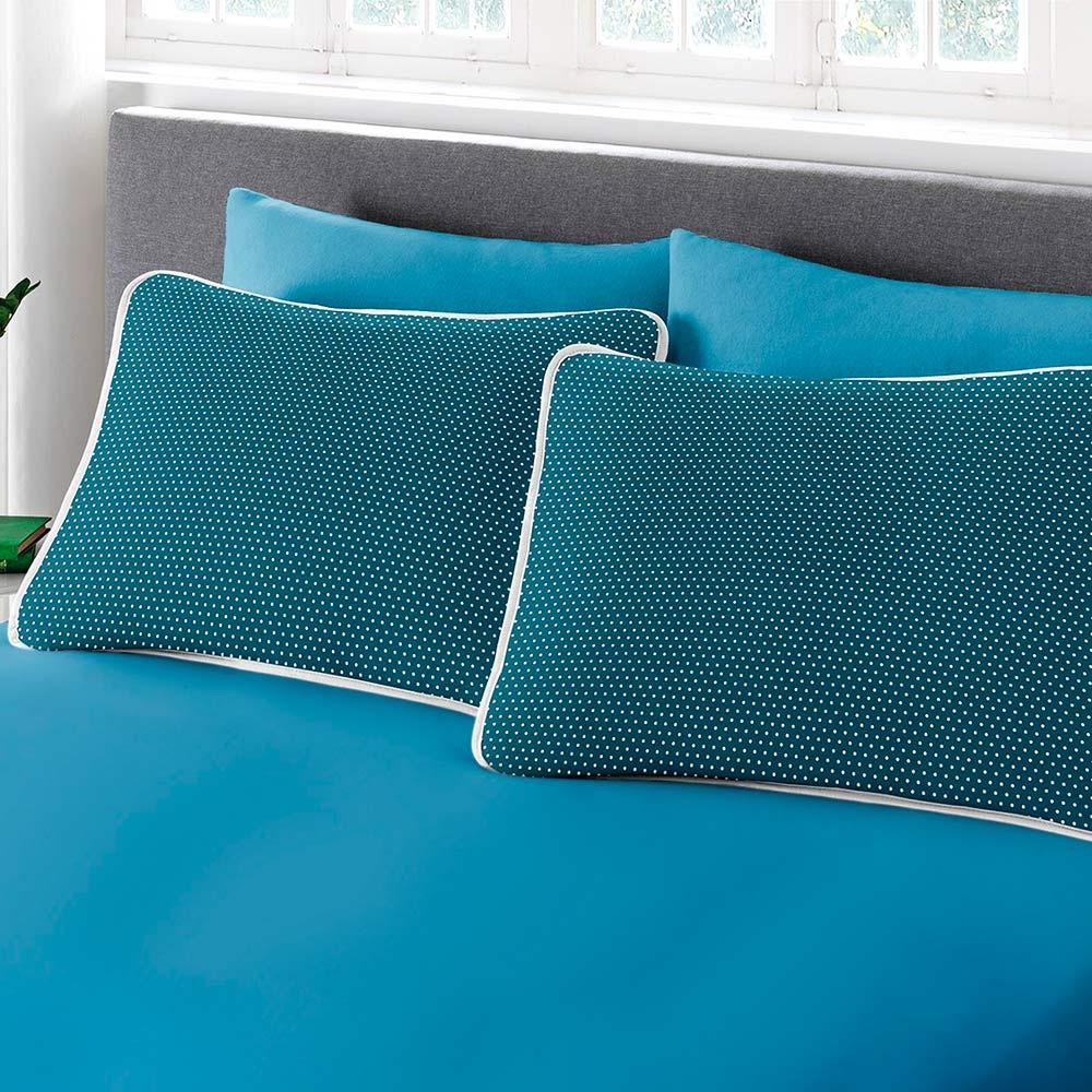 Jogo de Cama Queen Size 3 peças Premium Ciranda Azul Ref 70.72.0003/7126