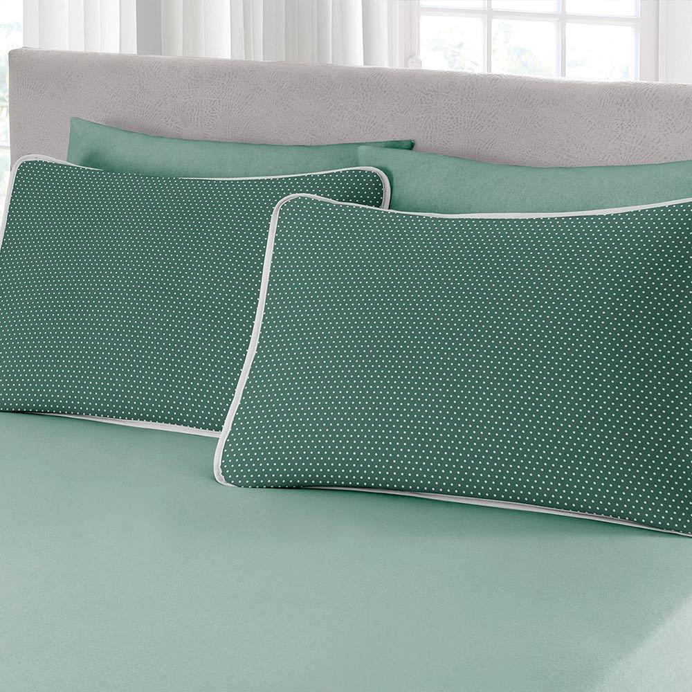 Jogo de Cama Queen Size 3 peças Premium Ciranda Verde Ref 70.72.0003/7125