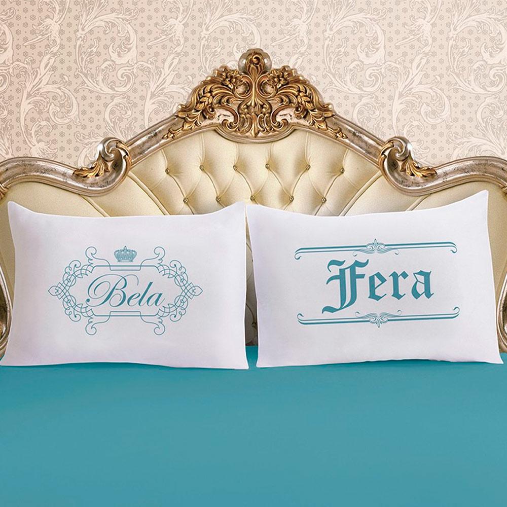 Jogo de Cama Queen Size 3 peças Vivaldi Bela e Fera Ref 60.72.0023/3217