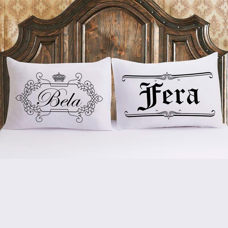 Jogo de Fronhas com 2 peças Vivaldi Bela e Fera Ref 60.01.0021/3148