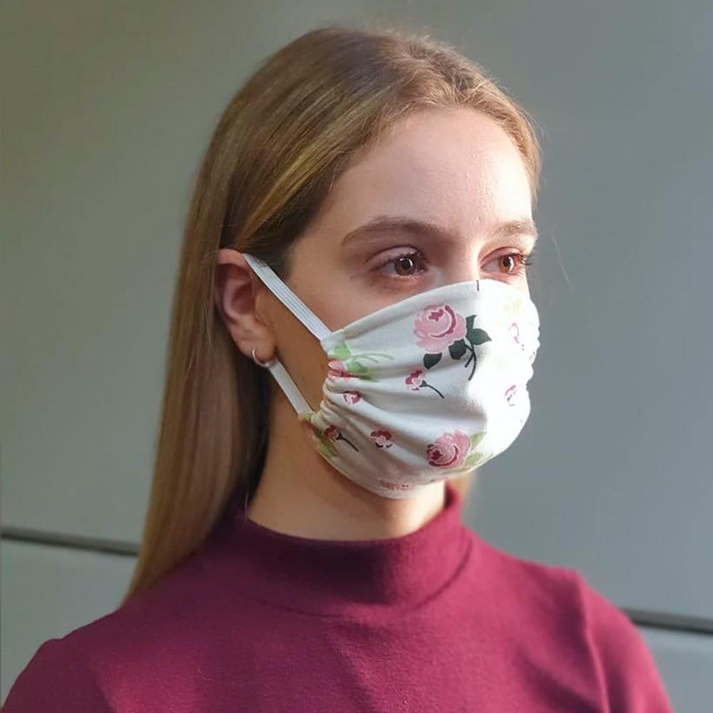 Kit 03 Peças Máscara Protetora Reutilizável Feminina Estampada Ref 45.05.0003