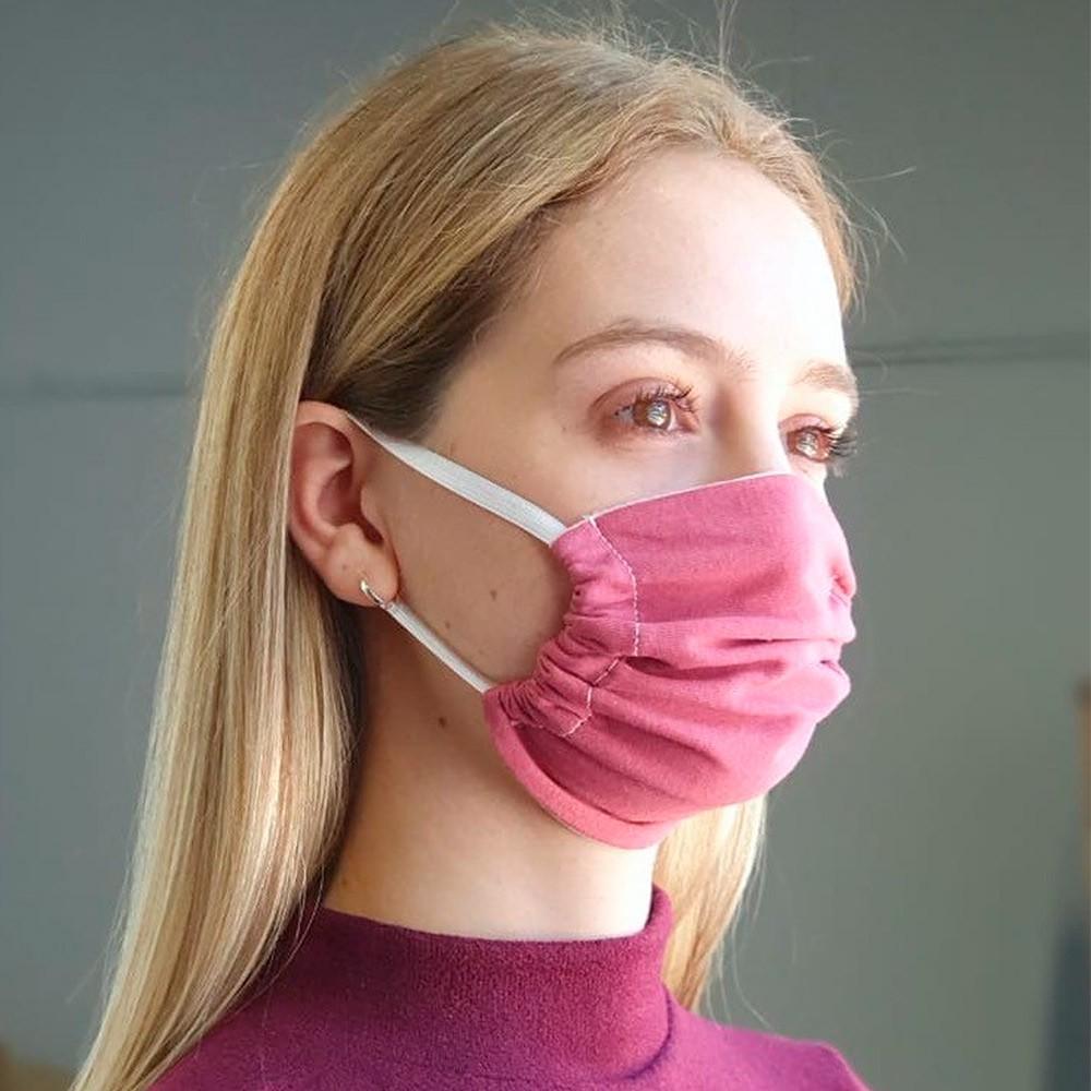 Kit 03 Peças Máscara Protetora Reutilizável Feminina Lisa Ref 45.05.0001