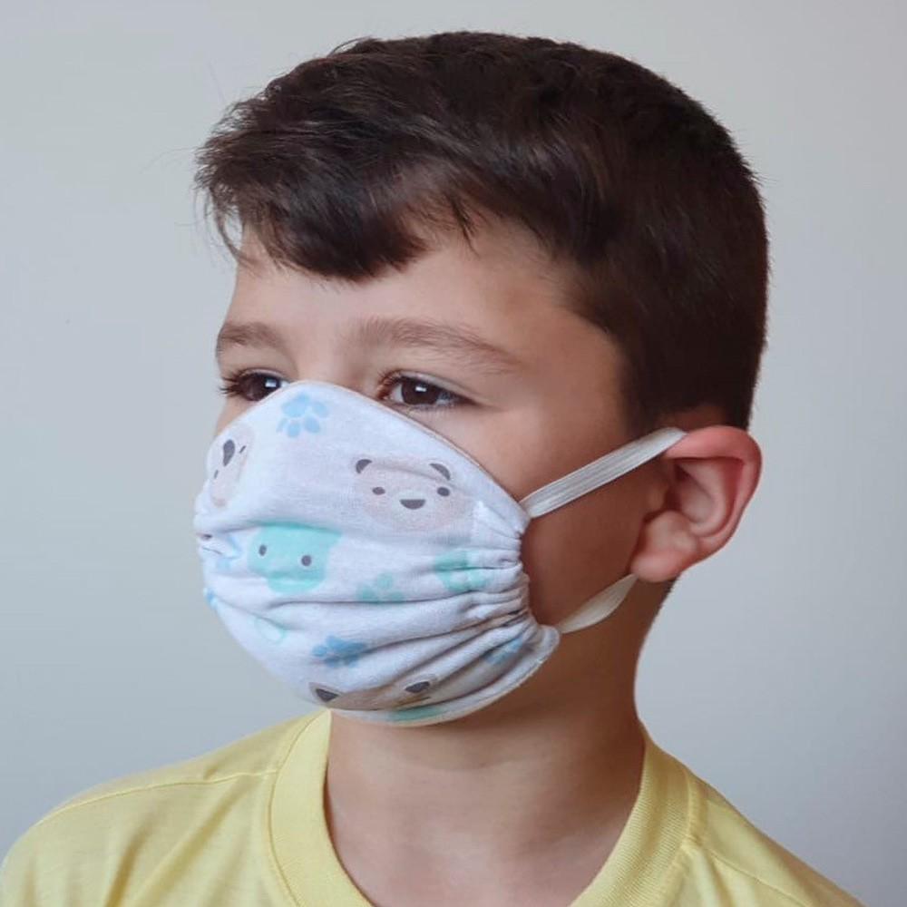 Kit 03 Peças Máscara Protetora Reutilizável Infantil Estampada Ref 45.06.0003