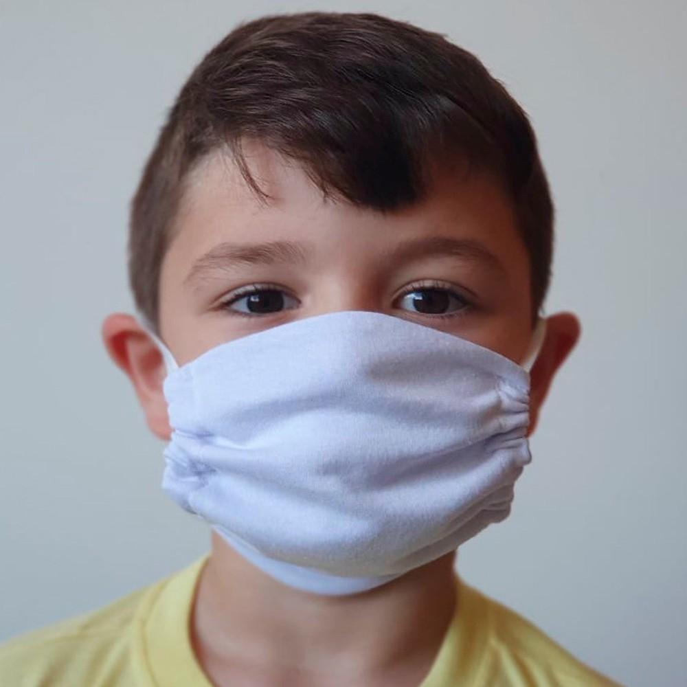 Kit 03 Peças Máscara Protetora Reutilizável Infantil Lisa Ref 45.06.0001
