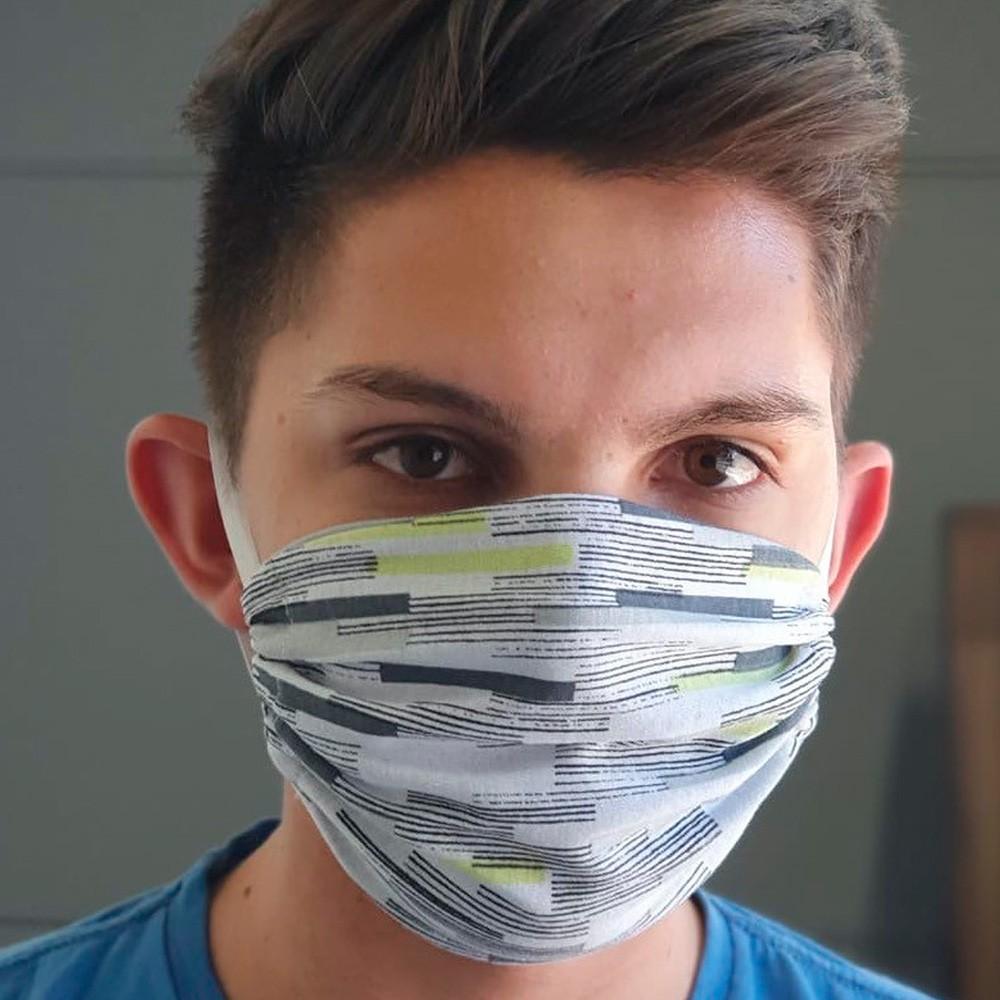 Kit 03 Peças Máscara Protetora Reutilizável Masculina Estampada Ref 45.04.0003